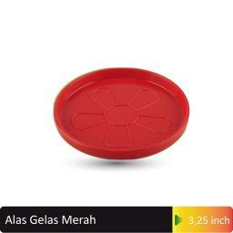 alas gelas merah