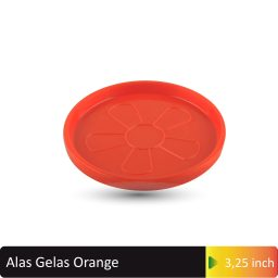 alas gelas orange