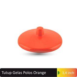 tutup gelas polos orange