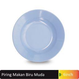 piring makan biru muda
