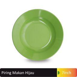 piring makan hijau melamin