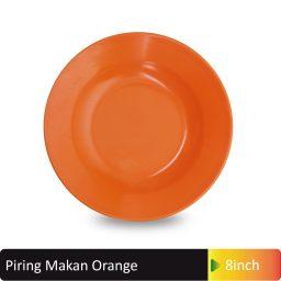 piring makan orange melamin