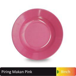 piring makan pink melamin