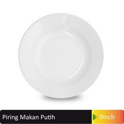 piring makan putih