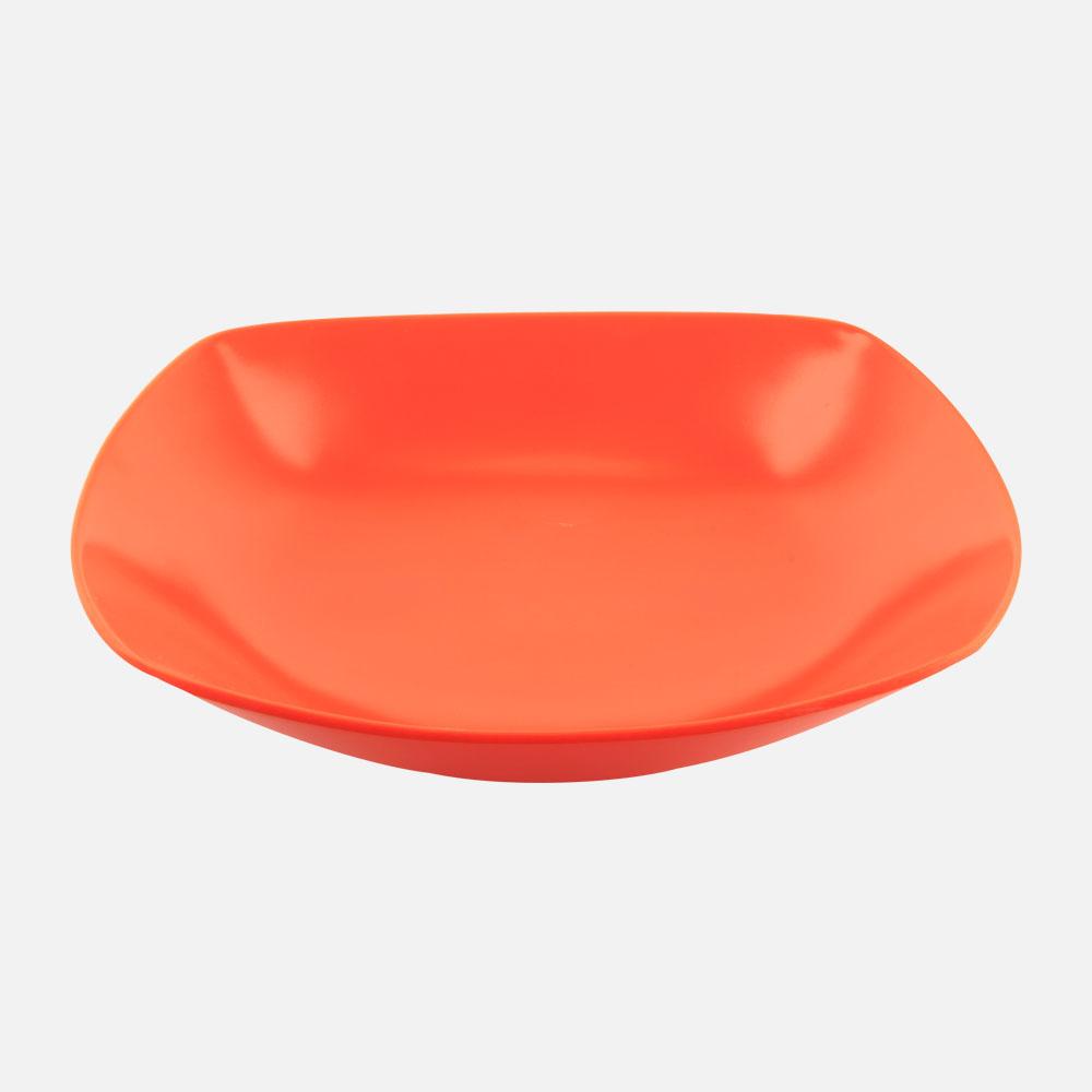 Piring Cekung Segi Empat 2580 - Orange