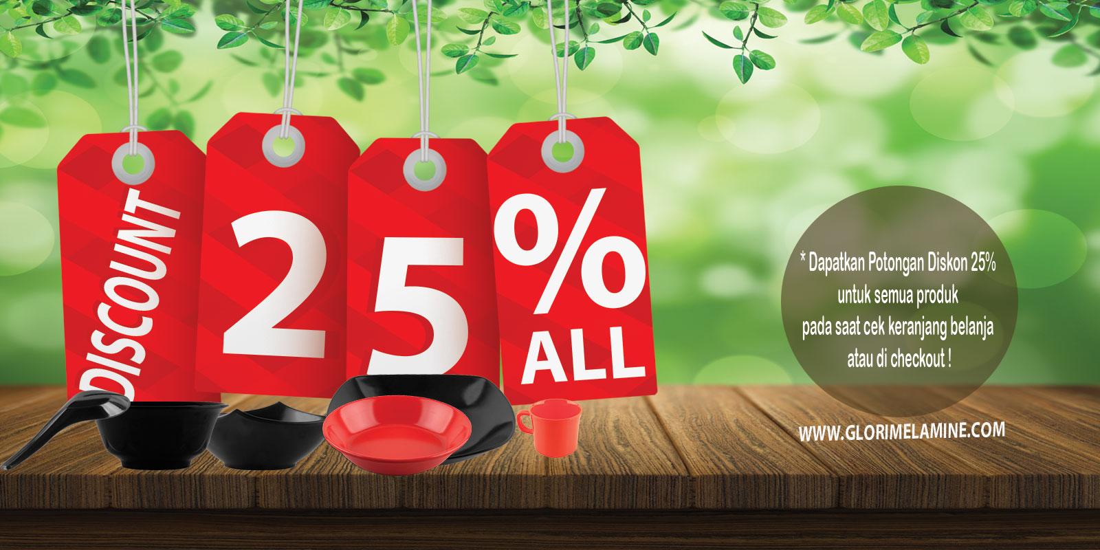 Promo di Bulan November 2016, All Product Diskon 25% Tanpa Syarat