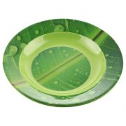 piring makan motif daun