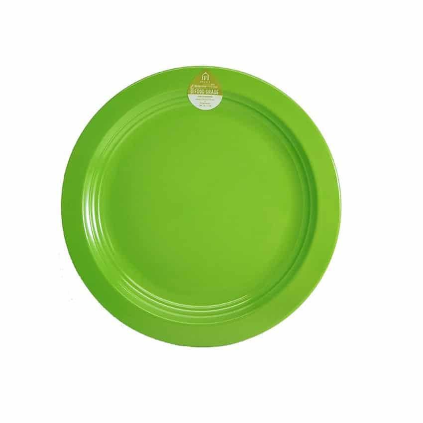 piring melamin ulir hijau