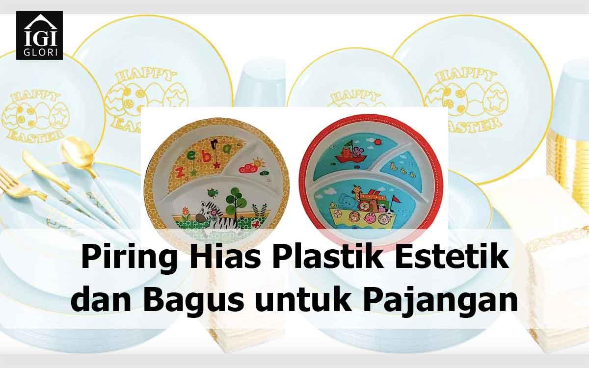 Piring Hias Plastik