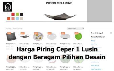 Harga Piring Ceper 1 Lusin dengan Beragam Pilihan Desain