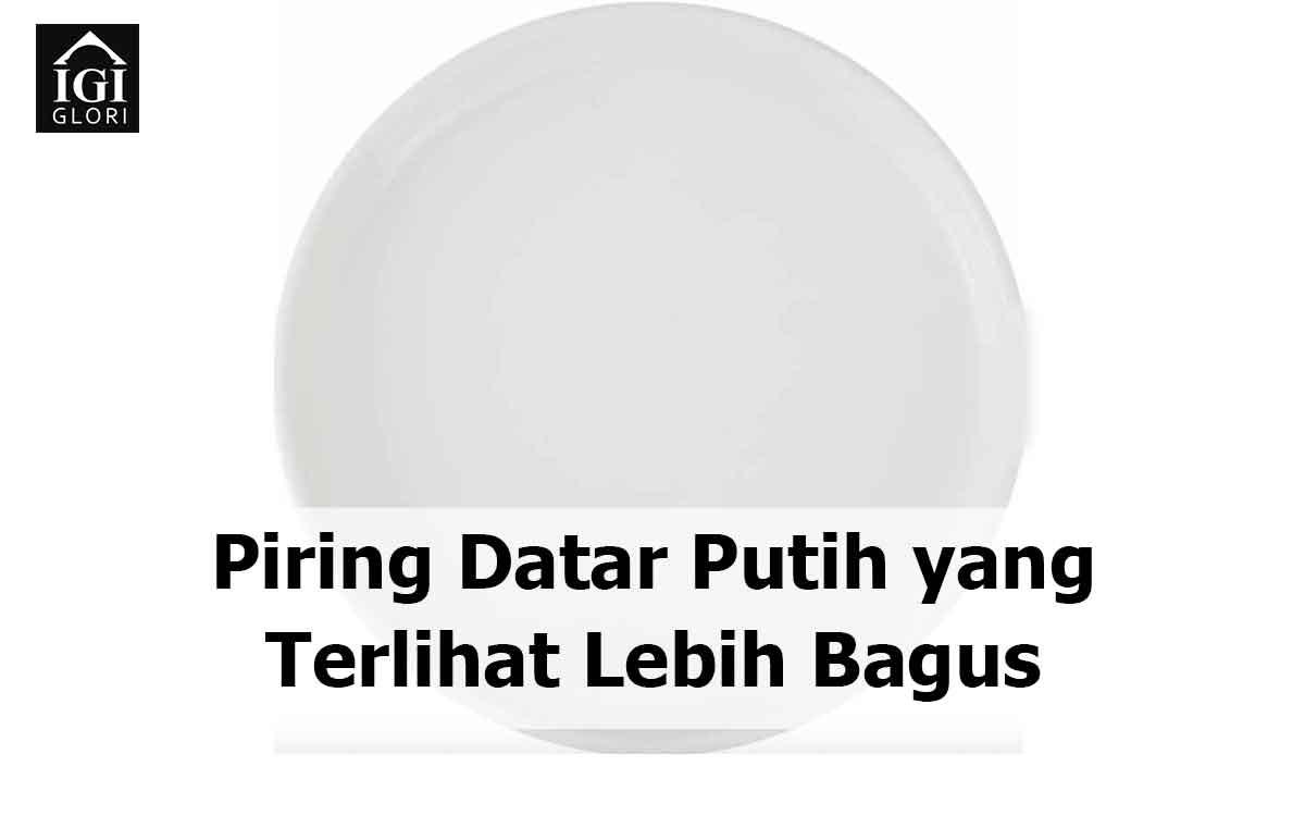 piring datar putih