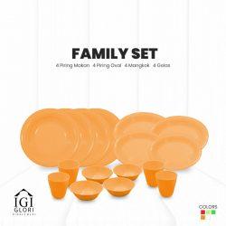 set makan keluarga orange