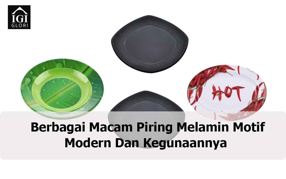 piring melamin motif moder