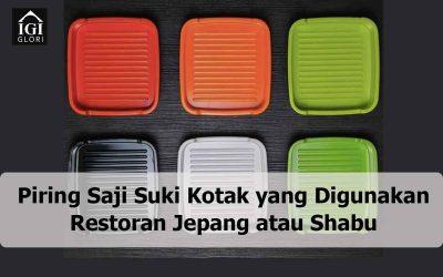 Piring Saji Suki Kotak yang Digunakan Restoran Jepang atau Shabu