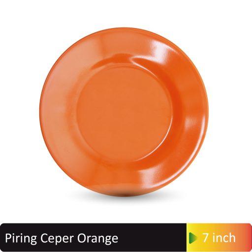 mangkok orange hijau 7inch