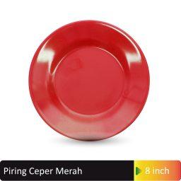 piring ceper merah 8inch