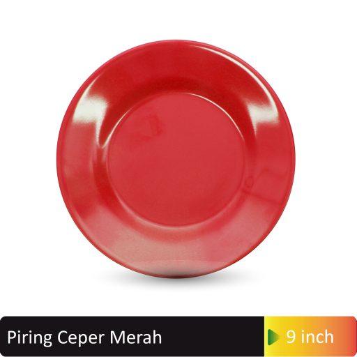 piring ceper merah 9inch