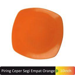 piring ceper segi4 orange