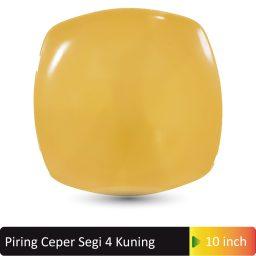 piring ceper segi 4 kuning