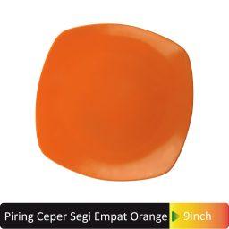 piring segi4 orange 9inch