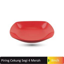 piring cekung segi4 merah