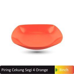 piring cekung segi4 orange