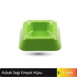 asbak segi empat hijau