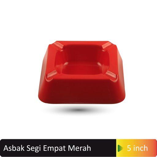 asbak segi empat merah