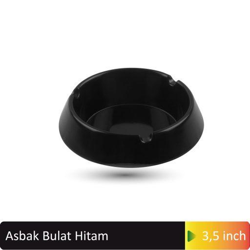 asbak bulat hitam 3,5inch