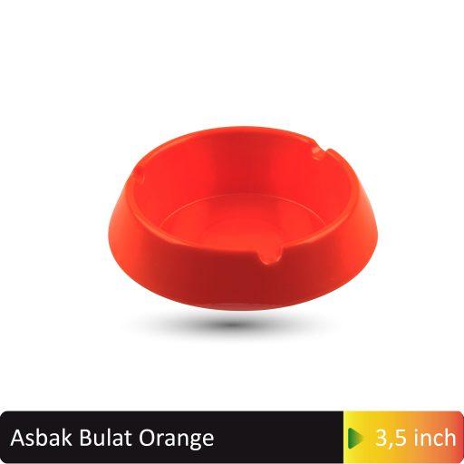asbak bulat orange