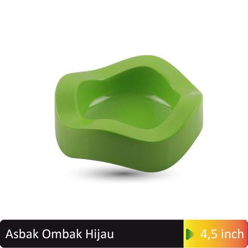 asbak ombak hijau