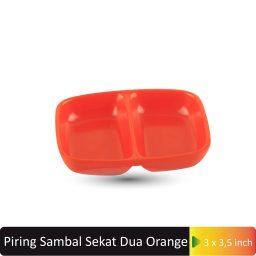piring sambal sekat dua orange
