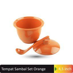 tempat sambal set orange