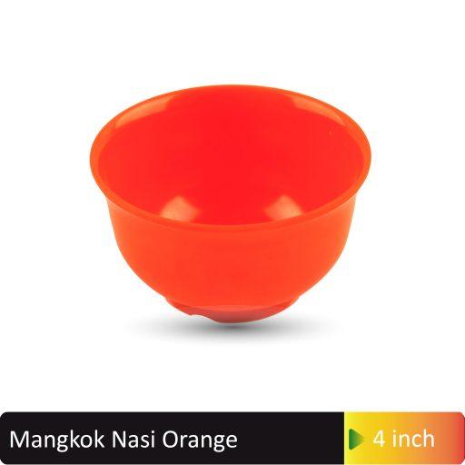 mangkok nasi orange 4inch