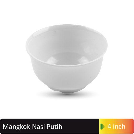mangkok nasi putih 4inch