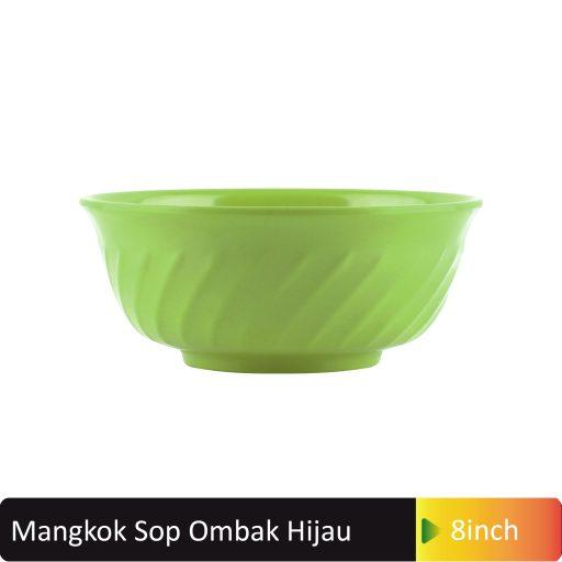 mangkok sop ombak hijau