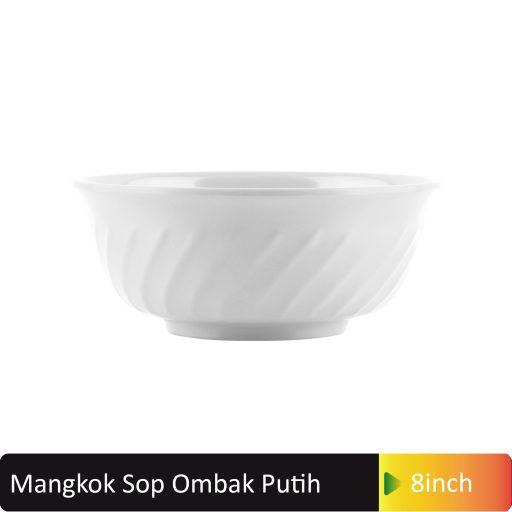 mangkok sop ombak putih