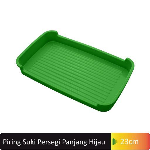 piring suki hijau persegi