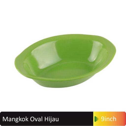 mangkok oval hjiau 9inch