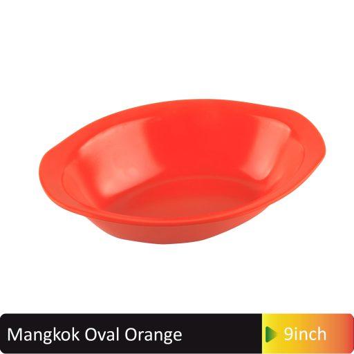 mangkok oval orange 9inch