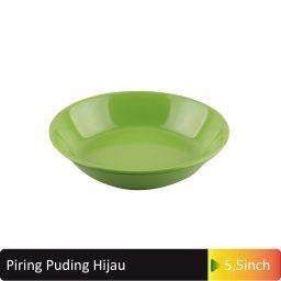 piring puding hijau