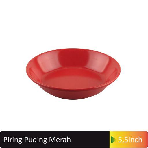 piring puding merah