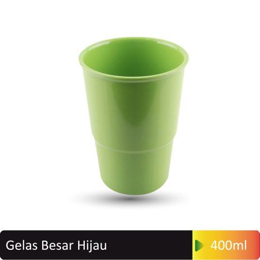 gelas besar hijau