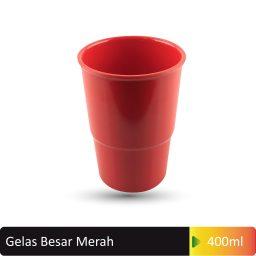 gelas besar merah