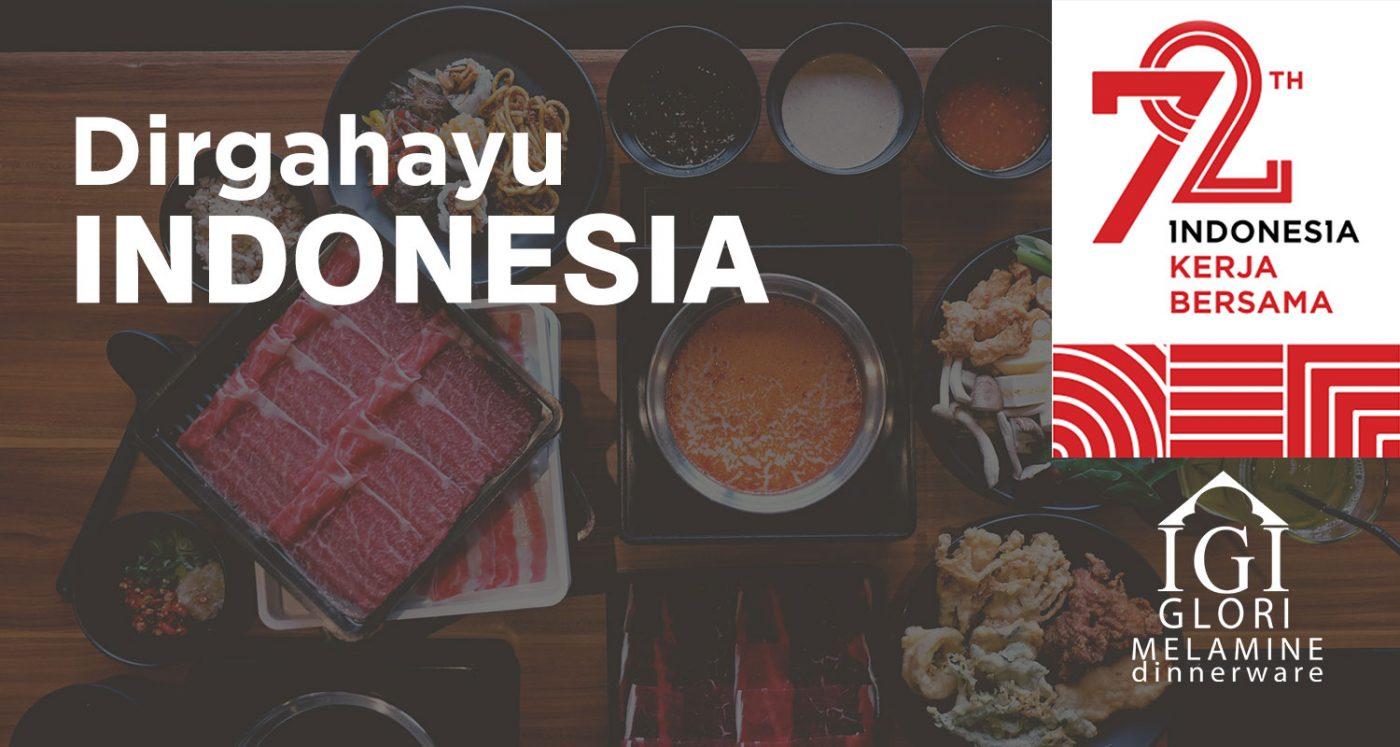 Dirgahayu Indonesia ke 72 pada 17 agustus 2017