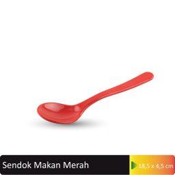 sendok makan merah
