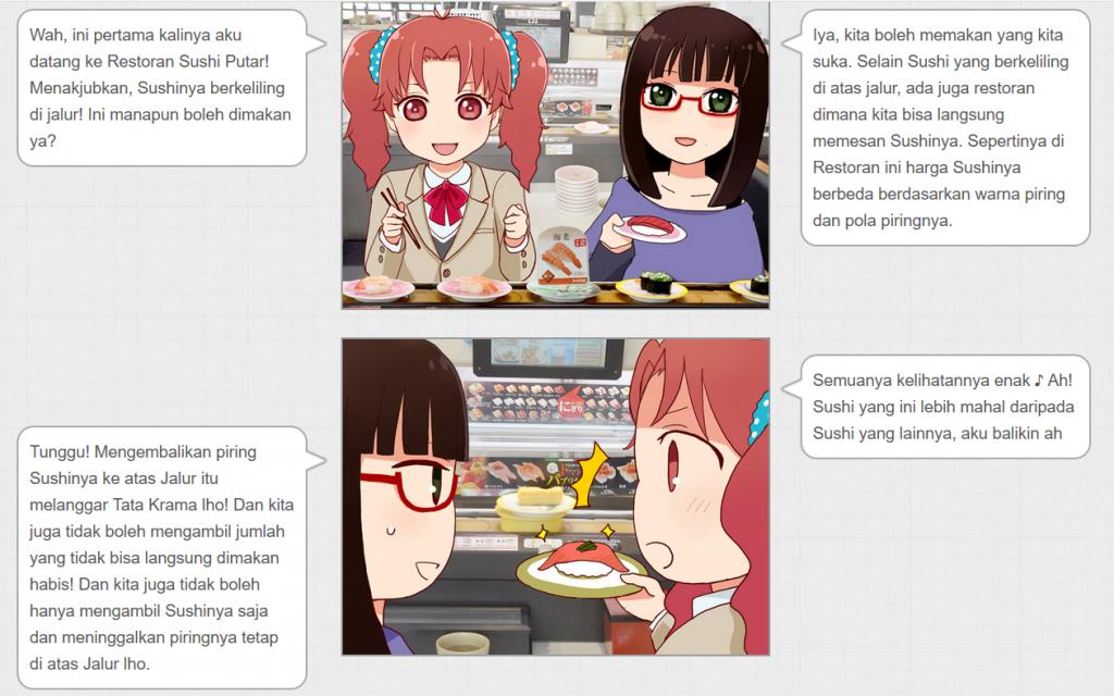Menikmati Sushi Putar