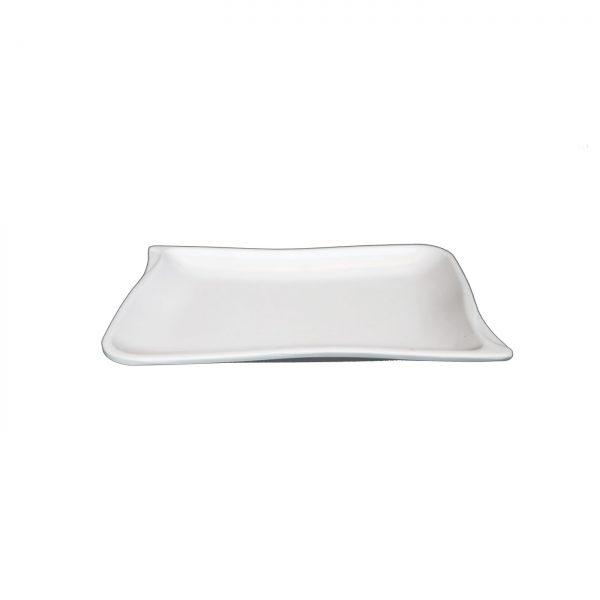 Piring Ceper Panjang Oriental 8.5 Inch Putih - Glori Melamine GYA04 PTH