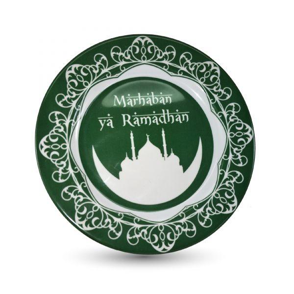 Piring Makan Melamin Motif Idul Fitri Marhaban Ya Ramadhan