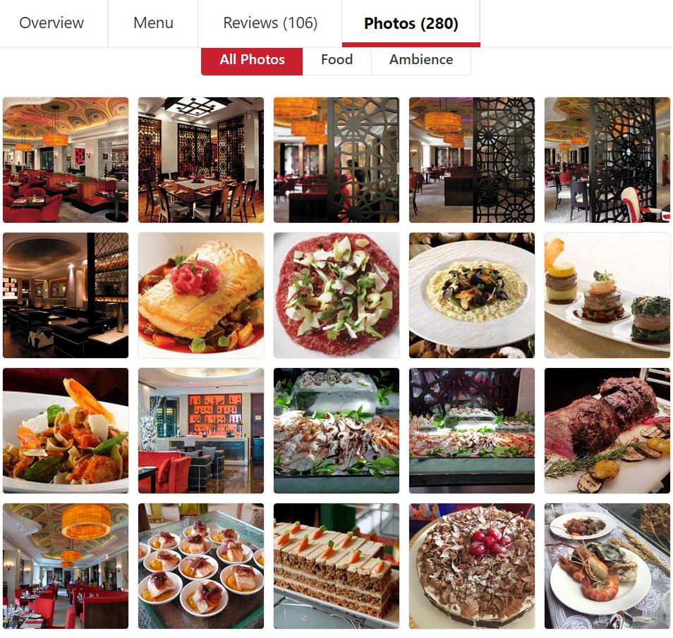 Restoran Rosso - Shangri-La Hotel Sudirman Jakarta